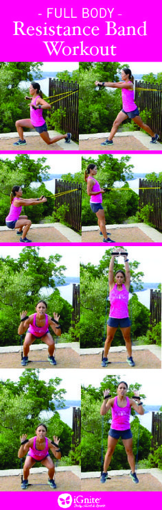 Resistance bands are an easy and convenient way to get a great full-body workout whether you're in the gym, outdoors, at home or traveling. iGnite founderNeissa shares her favorite resistance ban...