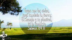 Tuyos son los cielos, tuya también la tierra;El mundo y su plenitud, tú lo fundaste. Salmos 89:11 Todo te pertenece mi Señor! La Gloria y la Honra sean para ti mi Dios😍 #Cada-dia-te-amo-más
