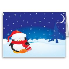 Cute little penguin Christmas card