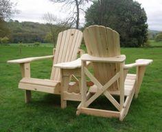 An Adirondack Love Seat