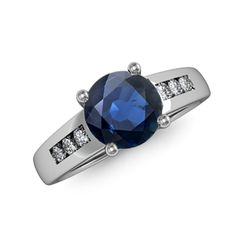 Round-Sapphire-and-Diamond-Cathedral-Ring-SR0410S-WG-AA-SA
