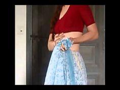 bustle sari drape
