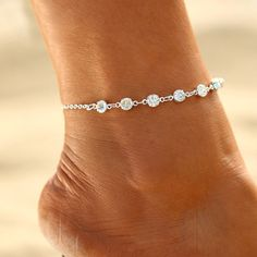 Gold Silver Ankle Bracelet Women Anklet Adjustable Chain Foot Beach Jewelry 7be640ab246b