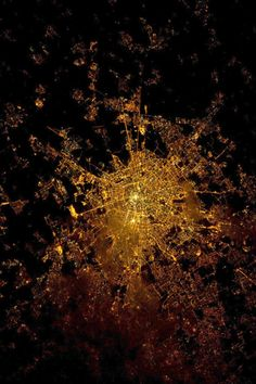 The Italian city of Milan seen at night, photographed by an Expedition 30 crew member from the International Space Station.