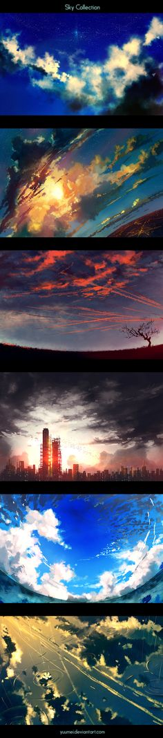 "Just amazing ! ""Sky Collection"" by yuumei.deviantart.com on @deviantART"