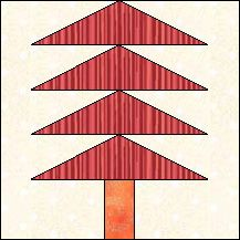 Block of Day for September 15, 2016 - Pine Tree-foundation/paper piecing-The pattern may be downloaded until: Friday, September 30, 2016.