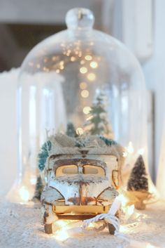 she has some really awesome winter decor on her blog