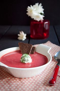 Goat Cheese and Beetroot Soup