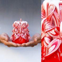 Romantic Decorative Handmade Hand Carved Valentine's Day Candle (Design: Prima) #PrimaCandles