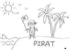 Pirat Ausmalbild Malvorlage Jungs