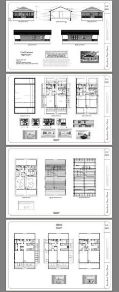 28x36 House 2 Bedroom 2 Bath Plan 1008 sq ft Cabins
