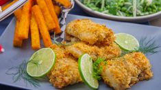 Serves 4 Ingredients 2 cups ml) crushed plain potato chips ½ cup ml) mayonnaise 2 tbsp ml) melted butter 2 tbsp ml) chopped dill 2 tbsp ml) chopped parsley ½ tsp ml) pepper juice of 1 lime 4 cod fillets, ½ pound g) each canola oil, for greasing […] Cod Fillet Recipes, Cod Recipes, Fish Recipes, Seafood Recipes, Cooking Recipes, Healthy Recipes, Recipies, Chicken Recipes, Dinner Recipes