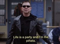 Brooklyn nine nine Film Quotes, Funny Quotes, Funny Memes, Epic Quotes, Famous Movie Quotes, Mood Pics, Quote Aesthetic, My Mood, Reaction Pictures