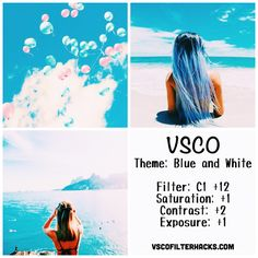 Blue and White Instagram Feed Using VSCO Filter C1