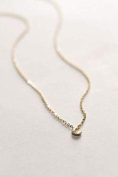 Diamond Mini Moon Necklace #AnthroFave