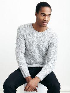 John Varvatos  Wool Hand Knit Sweater