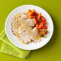Moist Turkey Breast with White Wine Gravy Recipe -I modified a favorite dish for slow cooker ease. It's moist and tender each time and perfectly complemented by the white wine gravy. It's best with drinking wine, not cooking wine. —Tina MacKissock, Manchester, New Hampshire