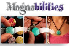 Magnabilities - Interchangeable Magnetic Jewelry - Endless Possibilities. Unique Personalities. www.lisamfoster.magnabilities.com