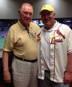 2 STL Legends!! Cardinals Baseball, St Louis Cardinals, Mlb Games, Hockey Season, St Louis Blues, Best Fan, Go Blue, Great Team, Best Player