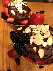 Chocolate Avocado Mousse - gluten free, dairy free, egg free, and soy free