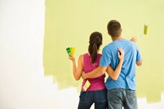 Alternative Registry Ideas: Home Renovation Couple Painting, After Marriage, Interior Design Images, Hallway Designs, It Takes Two, Self Storage, First Home, Color Theory, Home Improvement Projects