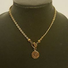 """GOLD TONE NECKLACE 15"""" Gold tone necklace with small round medallion...classy! Jewelry Necklaces"""