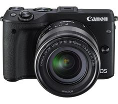 CANON EOS M3 Compact System Camera with EF-M 18-55 mm f/3.5-5.6 IS STM Zoom Lens - Black