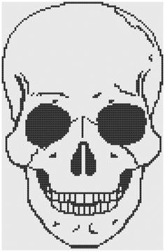 Skull pdf cross stitch pattern. $4.00, via Etsy.