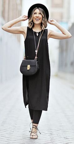 Black And Gold Cool Chic Outfit by Stephanie STERJOVSKI