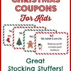 Holiday Coupons For Kids Free Printables  Everyday Activities