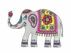 Elefante hindú por Afriquitailustracion en Etsy