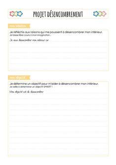 Projet désencombrement, fiche 1 : intention et objectif Flylady, Bujo, Bullet Journal, Organization, Organiser, Place, Ranger, Zen, Articles