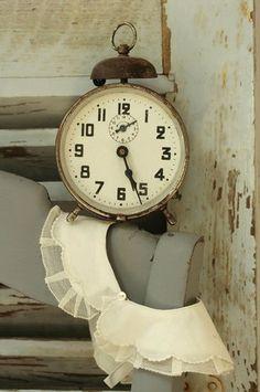 Rusty vintage alarm clock