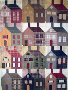 something about house quilts that I love. Cottons 'n Wool Primitive houses
