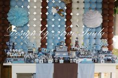 brown and blue teddy teddy bears Birthday Party Ideas | Photo 4 of 16 | Catch My Party
