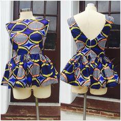 Ankara peplum blouse