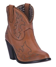 Look what I found on #zulily! Tan Leather Ankle Boot #zulilyfinds