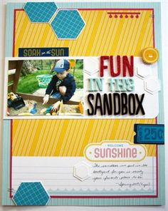 Fun in the Sandbox **American Crafts** - Club CK - The Online Community and Scrapbook Club from Creating Keepsakes