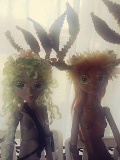 https://flic.kr/p/Ds2QXm | Morning haze | deer and faun art dolls