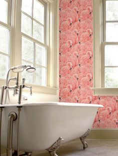 Palm springs style wallpaper for walls, palm springs flamingo wallpaper for walls