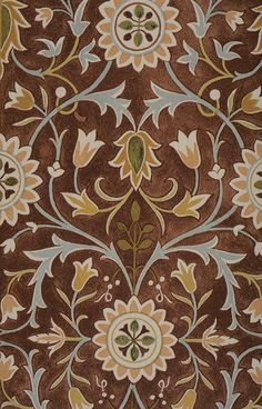 Interior,Nice Brown William Mirros Rug Design Ideas With Beautiful Little Flower Ornament For Modern Concept,Rug By William Morris