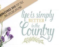 Embroidery Designs Ideas Life is Simply Better in the Country Embroidery Design - This is a machine embroidery design that says Life is Simply Better in the Country by Stitchtopia. Perfect for home decor projects. Available in 10 formats! Embroidery Hoop Crafts, Sewing Machine Embroidery, Types Of Embroidery, Free Machine Embroidery Designs, Embroidery Ideas, Towel Embroidery, Ribbon Embroidery, Embroidery Stitches, Parchment Craft