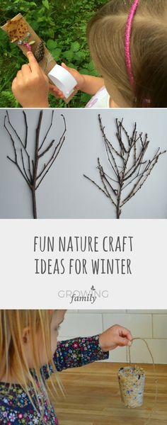 Nature Crafts Nature craft is a perfect way to get kids outdoor in winter. Check our these ideas for winter nature crafts - they're all easy, fun and give great results! Easy Crafts For Kids Fun, Winter Crafts For Kids, Winter Fun, Kids Crafts, Toddler Crafts, Family Crafts, Winter Time, Nature Activities, Winter Activities