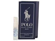 Polo Blue for men By Ralph Lauren .05 oz / 1.5 ml edt Spray Vial On Card Mini by Polo Blue for men edt spray. $8.00. Polo Blue By Ralph Lauren .05 oz / 1.5 ml edt Spray Vial On Card Mini. Polo Blue By Ralph Lauren Vial On Card Sampler. Polo Blue Ralph Lauren  Polo Blue Ralph Lauren Polo Blue .05 oz / 1.5 ml edt Spray The freedom of the big, blue sky, the energy of the open waters, an invigorating blast of fresh air. Polo Ralph Lauren Blue is a new definition of casual elegance....