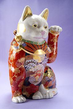 九谷ヌーボー招き猫 なかむらじん作品