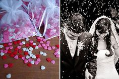 casamento chuva de coração