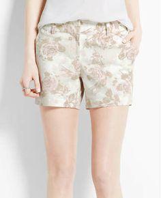 Shadow Rose Print City Shorts