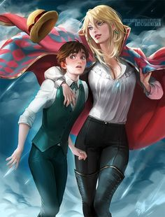 Genderbent Sophie and Howl from Howl's Moving Castle