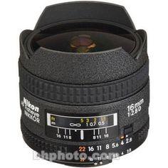Nikon AF Fisheye-NIKKOR 16mm f/2.8D Lens 1910 B&H Photo Video