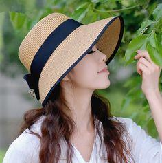 Leopard bow straw sun hat for women UV summer beach hats package